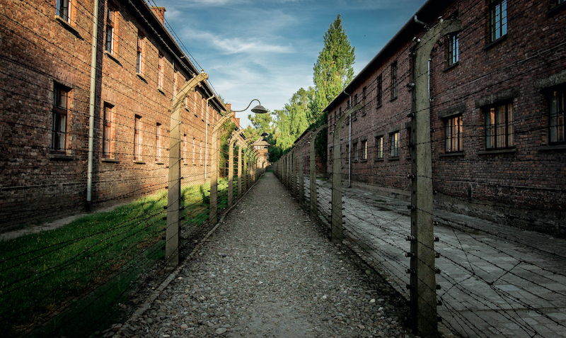 Visitors are encouraged to be respectful when visiting the site of the former concentration camp.
