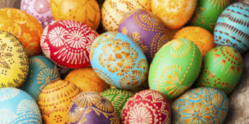 European Easter eggs.