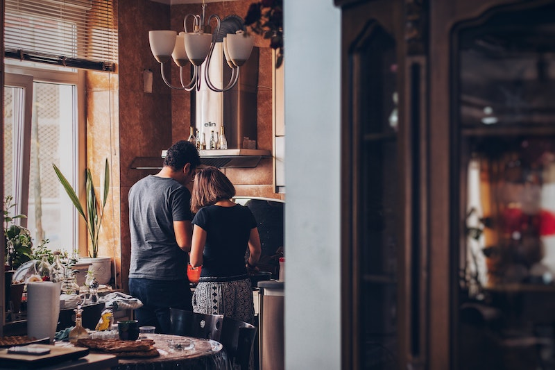 Stay at home date idea #3: Try your hand at cooking a fancy three-course meal