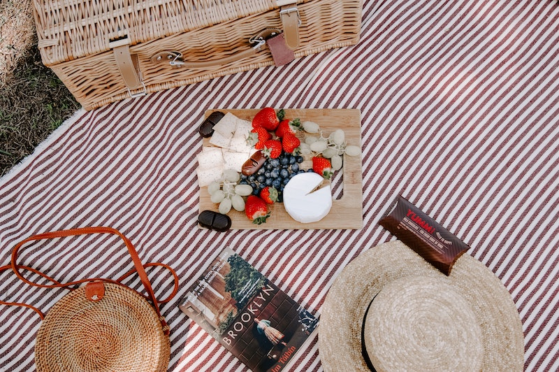 An indoor picnic is a great date night at home idea
