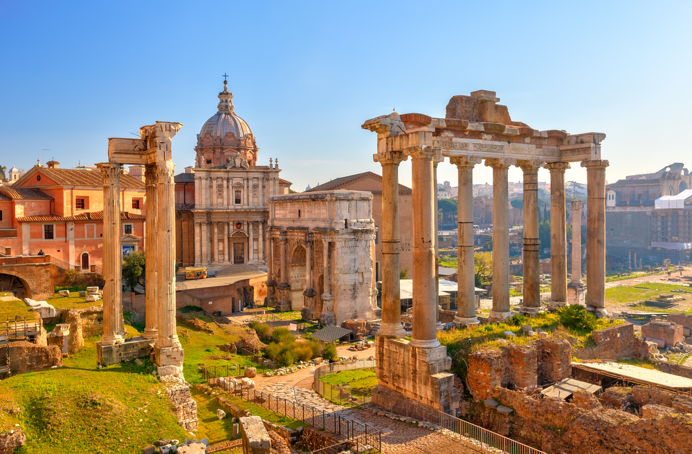 The ancient wonder of the Roman Forum