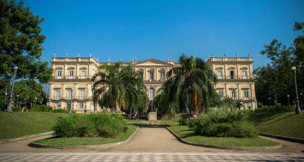 A photo of the National Museum of Brazil before the fire of 2018