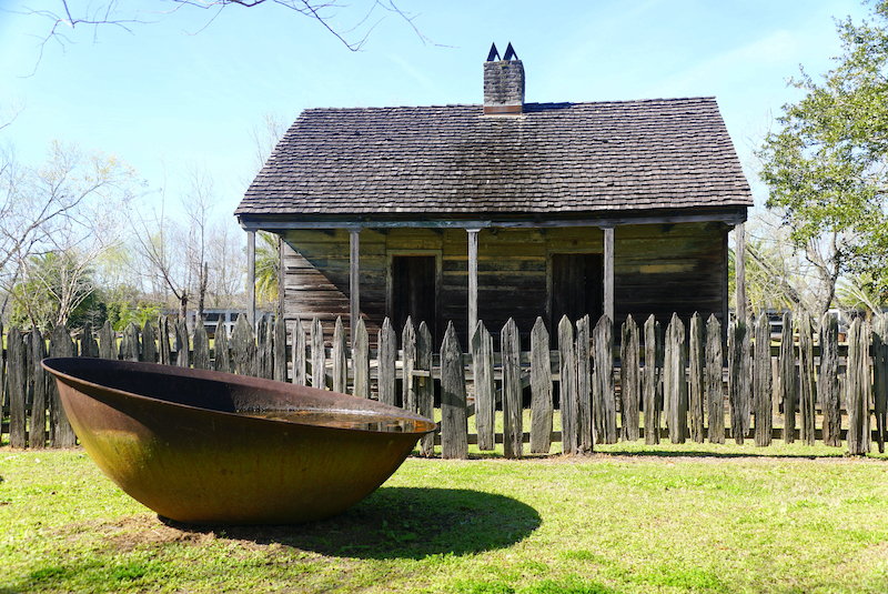 An old slave house at a Historical site in the US, the Whitney plantation