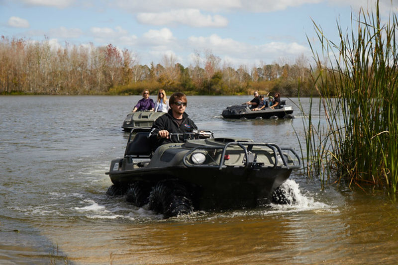Mighty Duck amphibious vehicles in action
