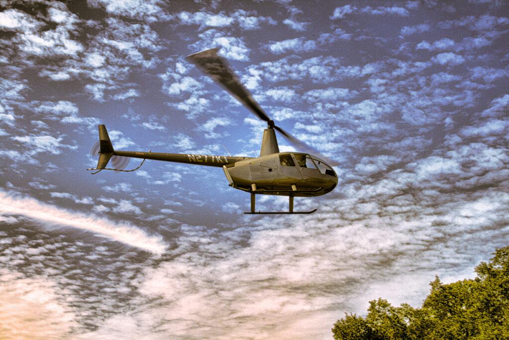 A helicopter ride over Orlando