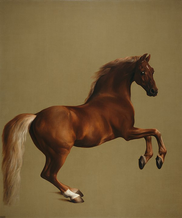 Whistlejacket by George Stubbs, one of the world's largest and most famous horse paintings.