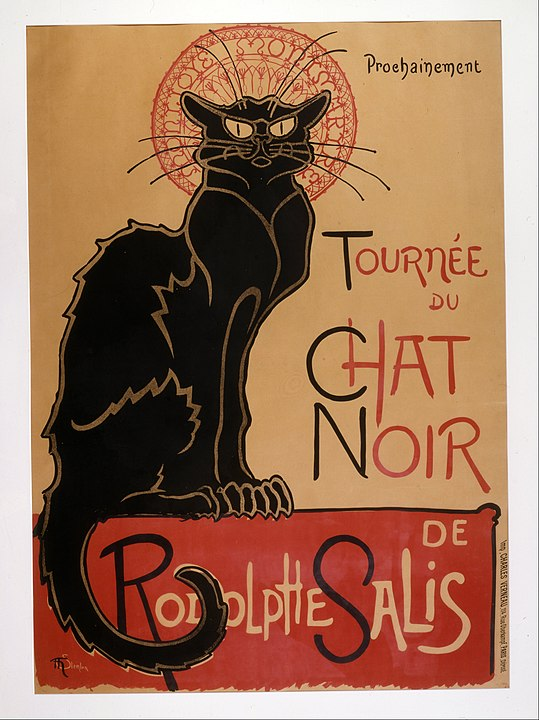 An image of the original 'Chat Noir' poster by Steinlen.