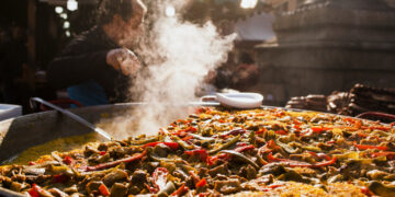Paella, a famous food in valencia
