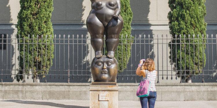 Statue in Botero Park Medellin