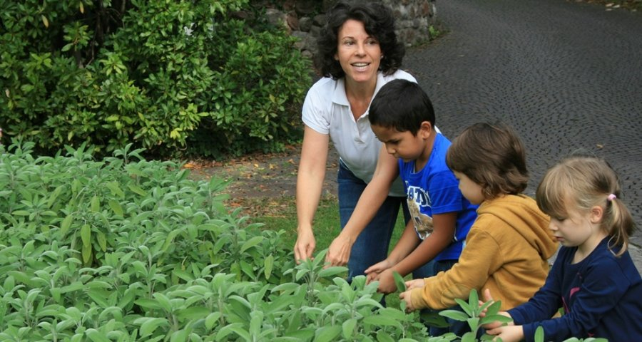 Kids are encouraged to get help out with the gardening at Parco Giardino Sigúrta,