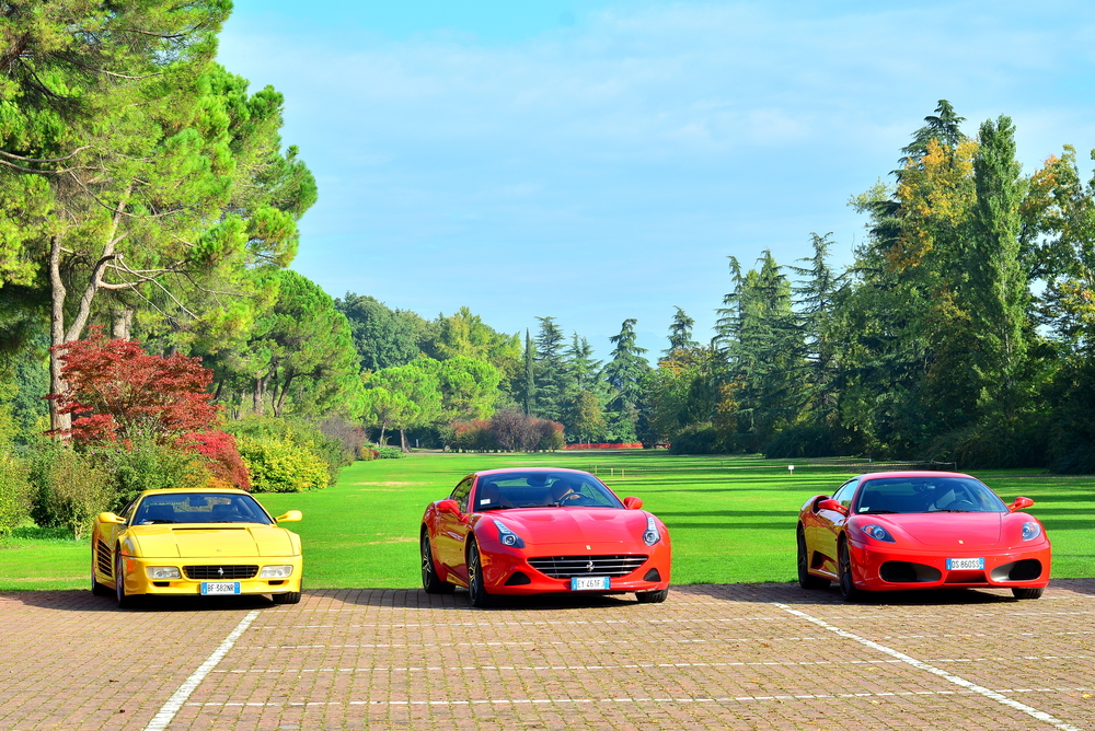 The best way to travel to the most beautiful Italian Garden? Definitely in a Ferrari!
