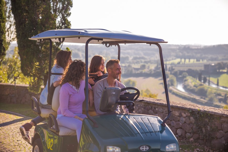 There are lots of options for getting around the gardens – including a golf cart!