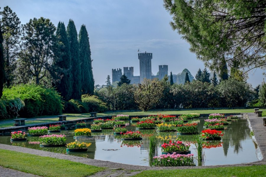 Floating flowerbeds and a medieval castle, just some of the eye candy at the most beautiful Italian garden.