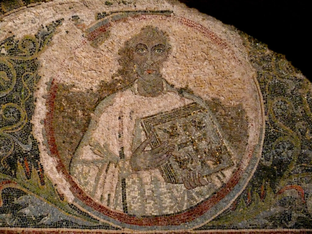 A mosaic depicting Neapolian bishop Quadvultdeus
