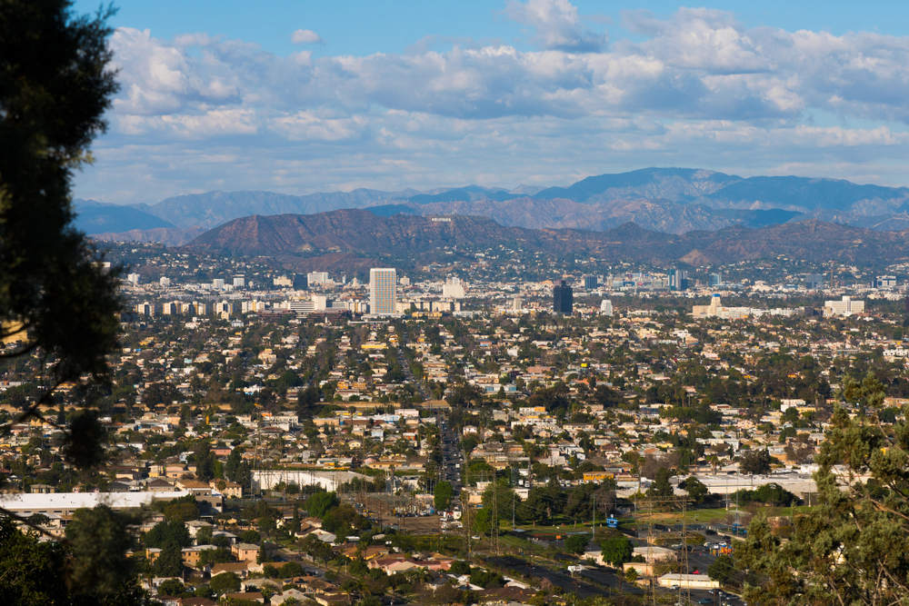 The view from Baldwin Hills over Culver City.