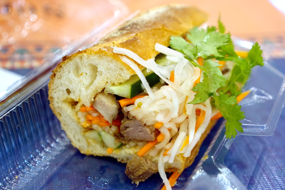 A banh mi sandwich.