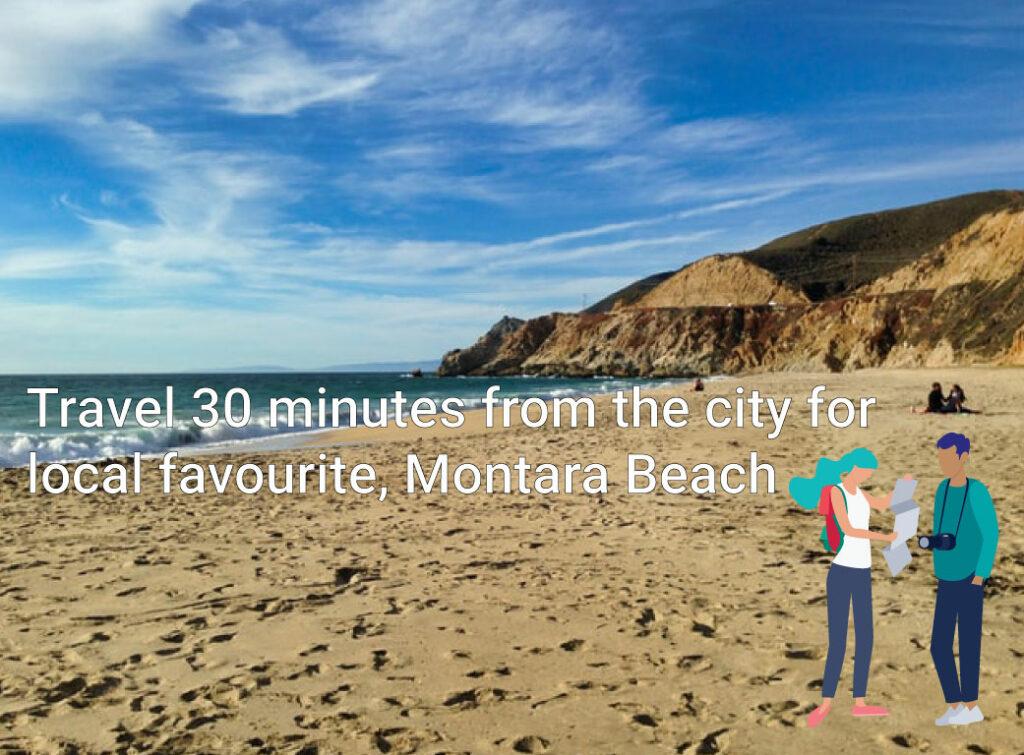 Shot of Montara Beach close to San Francisco
