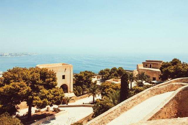 View of the Mediterranean Sea from Málaga's Moorish Alcazaba