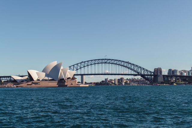 View of the Sydney Opera House and Sydney Harbour Bridge