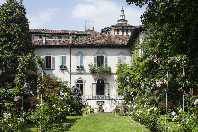 A view of the courtyard at Leonardo's Vineyard, one of the hidden gems in Milan