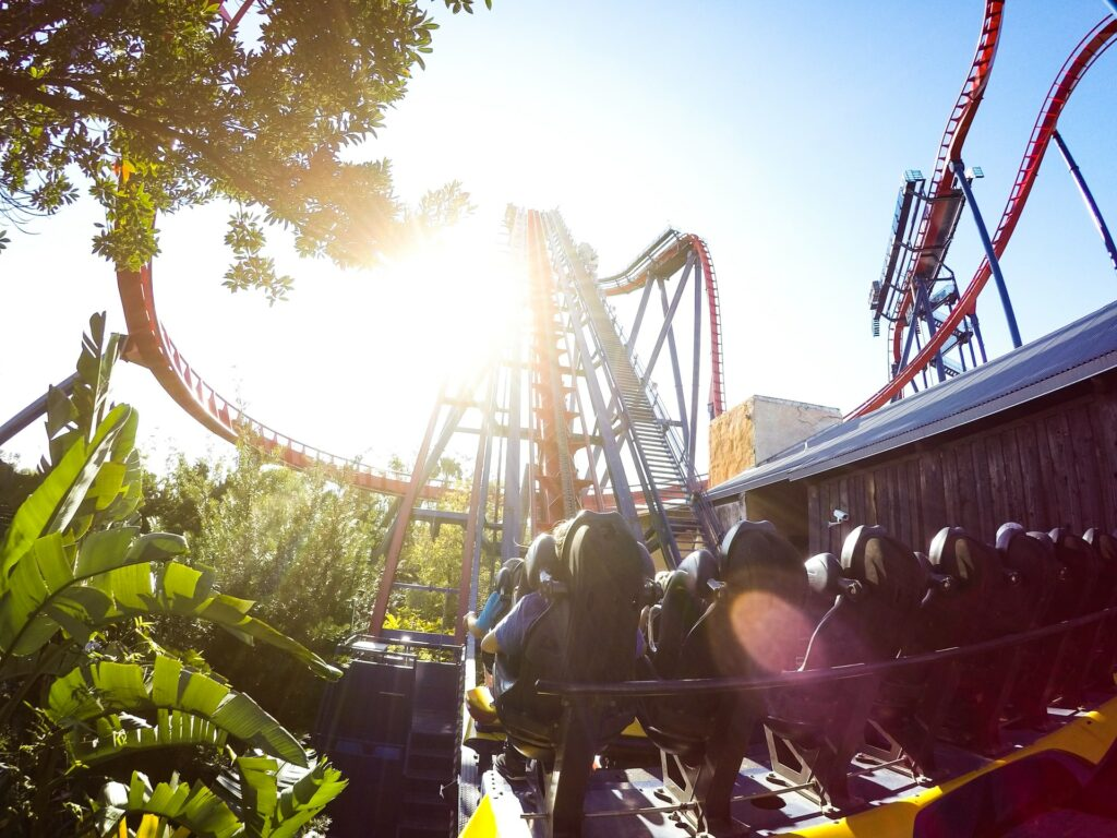 Rollercoaster at Busch Gardens