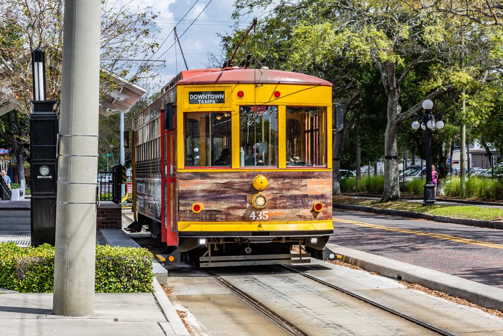 A tram in Ybor City