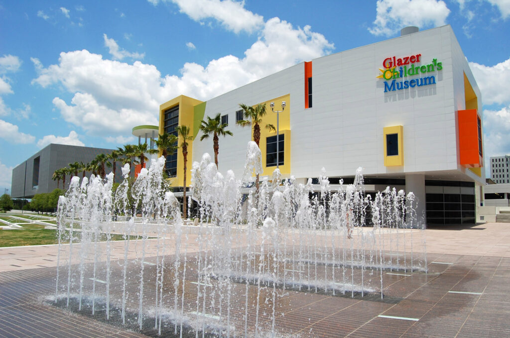 The front view of the Glazer Childen's Museum