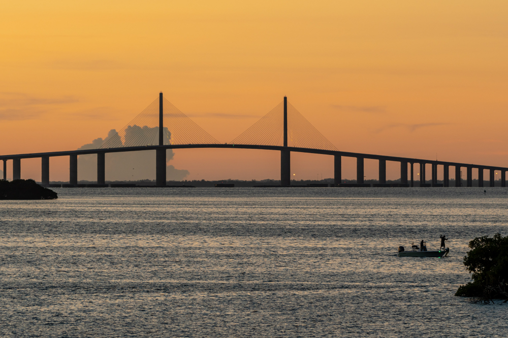 A sunset shot over Tampa Bay