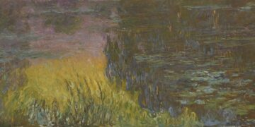 An excerpt of Water Lilies by Monet.