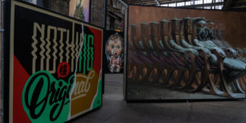 Some of the street art found in Amsterdam's STRAAT Museum.